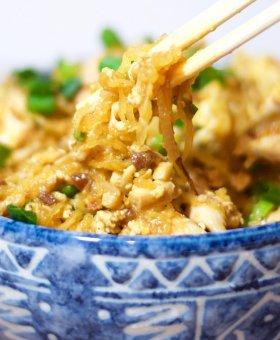 Spaghetti Squash Pad Thai — Keto, Paleo, Gluten Free