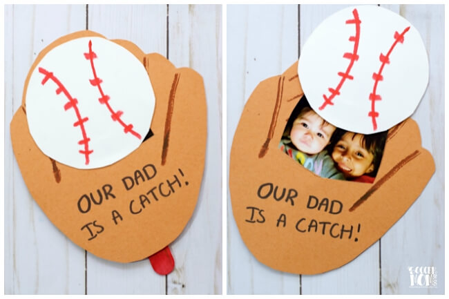 Baseball Glove Photo Pop Up Fathers Day Card Video
