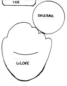 Printable FREE baseball glove pattern to make pop-up Father's Day Card