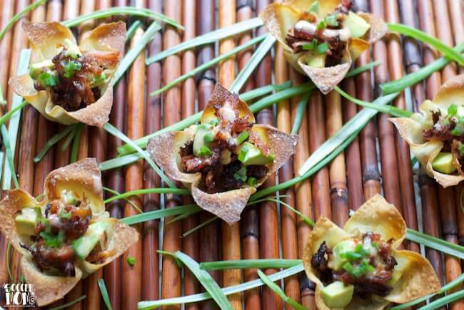 "Switch it up from the ""usual"" barbecue this summer with these wildly flavorful Crispy Pork Belly Wonton Cups. Easy appetizer ready in 30 minutes or less!"