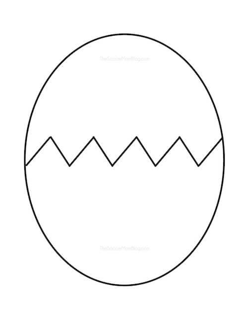 photograph relating to Dinosaur Template Printable identified as Free of charge Printable Egg Routine - The Football Mother Site