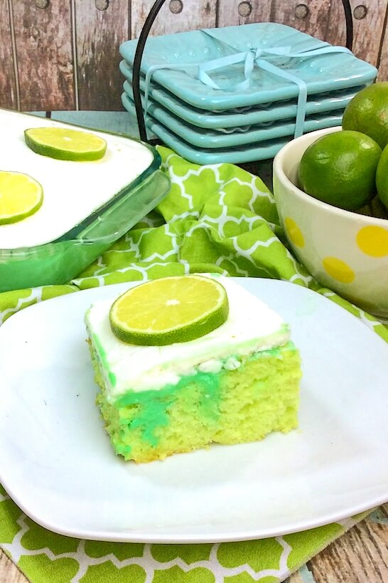"This gorgeous green icebox cake is bursting with tangy lime and creamy condensed milk ""pudding"" in every bite. Each spoonful is pure bliss!"