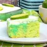 A new twist on a summer classic — this key lime poke cake will have you dreaming of sunny days and ocean waves!