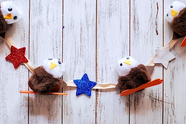 DIY 4th of July Garland