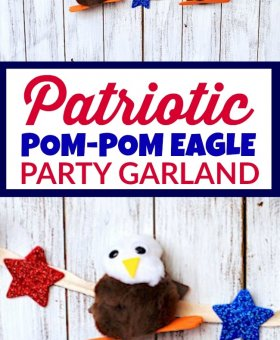 Patriotic Pom Pom Eagle Garland (VIDEO)