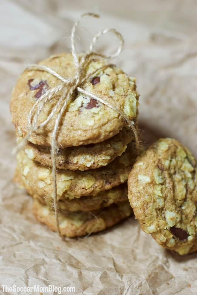 The perfect combination of sweet and salty in every bite —these Potato Chip Chocolate Chip Cookies are a WOW-worthy sweet treat for any occasion!
