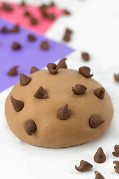 chocolate slime with chocolate chips