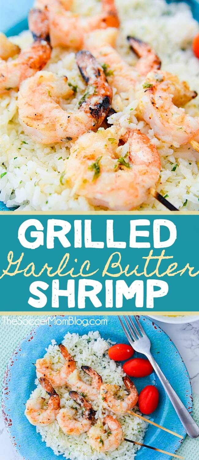 So simple, so elegant, and So. Darn. Good. These Grilled Garlic Butter Shrimp skewers are a healthy gourmet meal that's ready in about 15 minutes!