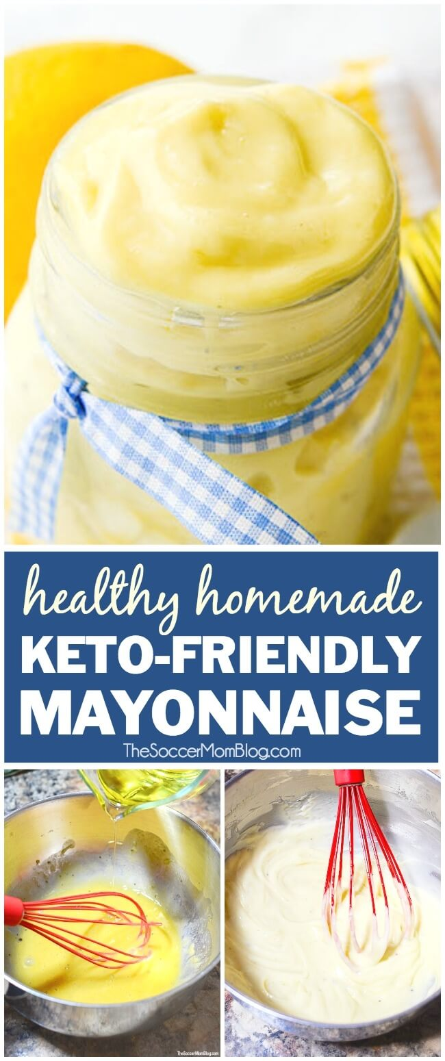 Homemade Keto Mayonnaise is not only delicious, but good for you too! Paleo, no carb, gluten free
