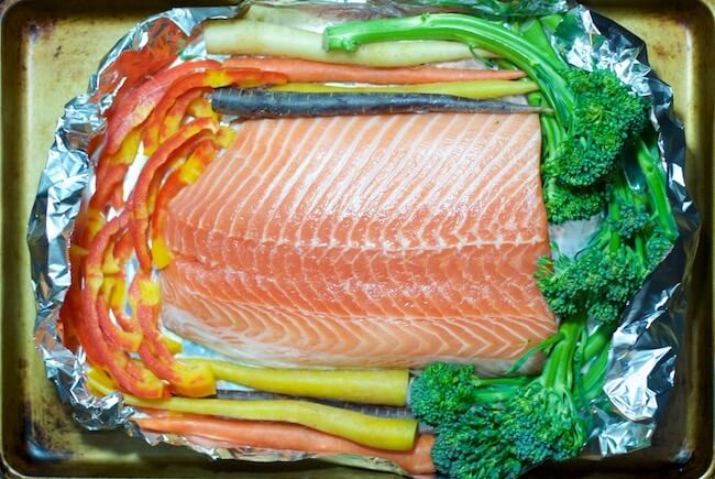 Ready in under 30 minutes and practically NO CLEANUP! Perfect easy salmon recipe for busy nights!