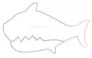 Free Printable Shark Puppet printable on The Soccer Mom Blog