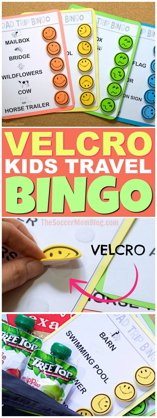 Keep your kids entertained for hours on car rides with this free printable Road Trip Bingo travel game! Plus more of our favorite road trip essentials!
