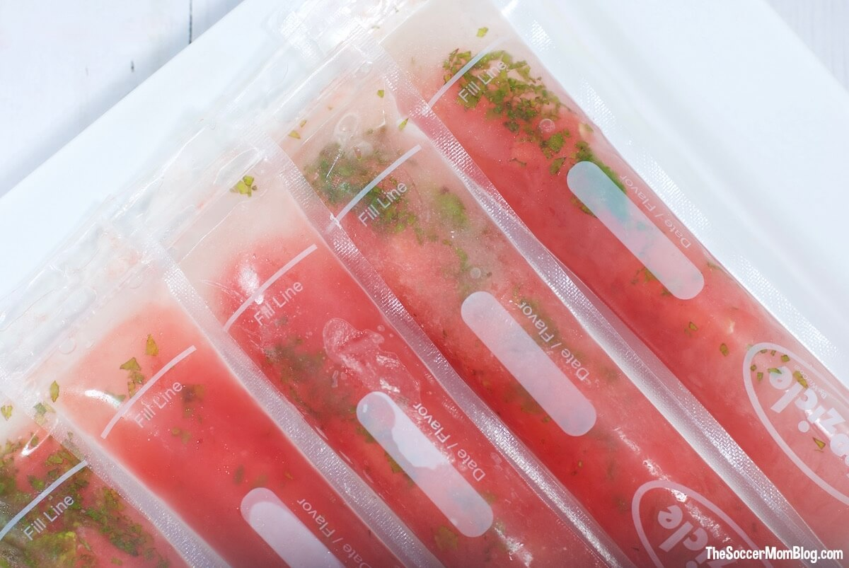 If you could freeze summer into a popsicle, these Watermelon Mojito Pops would be IT. An undeniably refreshing combo of sweet watermelon, mint, and rum.