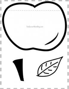 free printable apple pattern for apple teacher thank you card on The Soccer Mom Blog