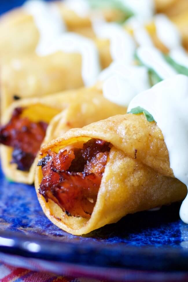 A Mexican comfort food classic gets a Texas twist— BBQ Pork Taquitos are quick, easy, and downright addictive!