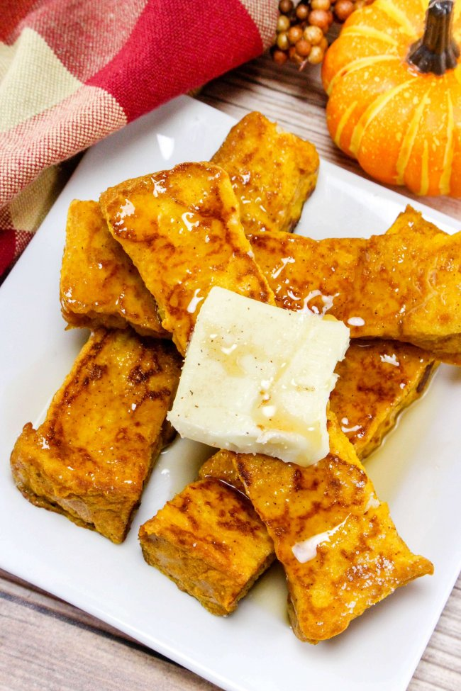 The ultimate Fall breakfast!! These delightful Pumpkin French Toast Sticks willtotally make you feel all warm and fuzzy inside!