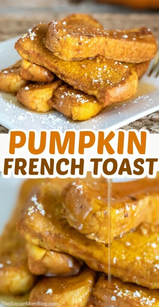 Light, fluffy, and packed with pumpkin spice goodness, this easy Pumpkin French Toast is the ultimate fall breakfast treat! Click for recipe video!