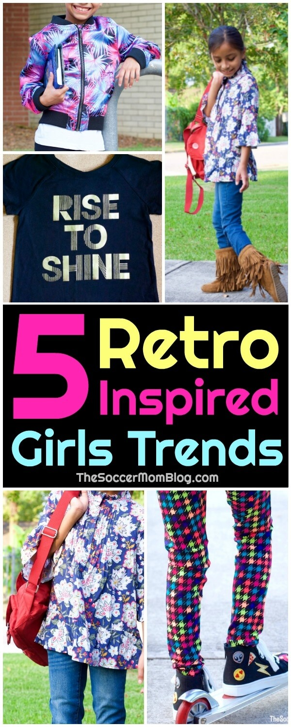 What goes around, comes around! This fall, it's all about fun & functional retro style! 5 of the latest girls trends inspired by the best of decades past.