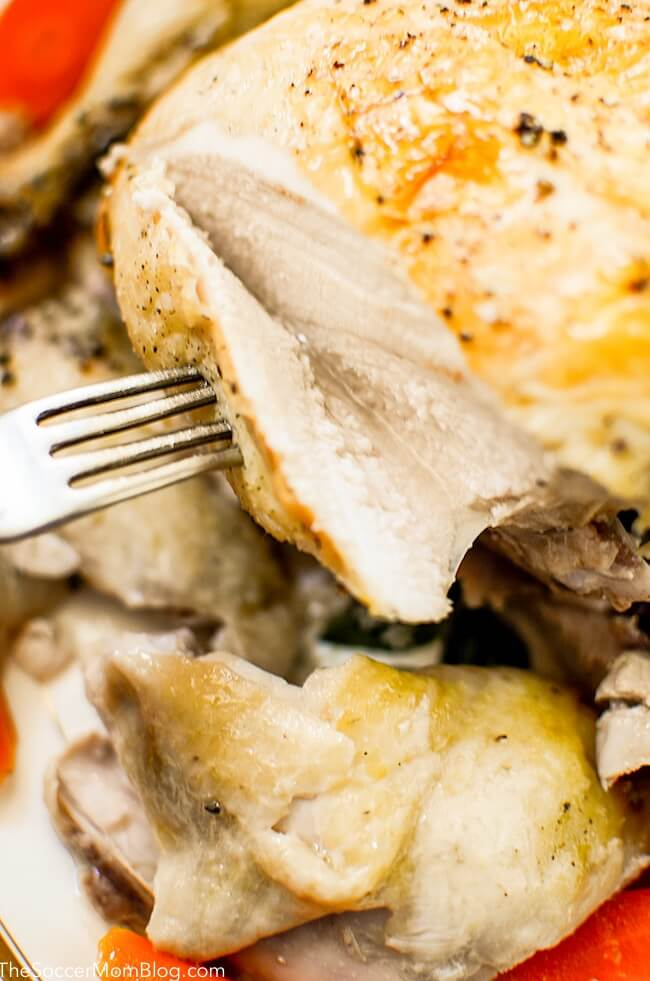 Cooking chicken in crockpot will give you perfectly tender and juicyslow cooker rotisserie chicken every single time!