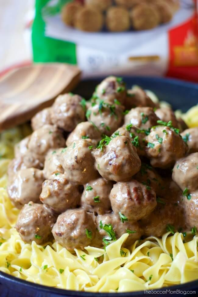 The easiest Swedish Meatballs recipe ever — ready in half the time of traditional recipes, but twice as flavorful! The perfect weeknight comfort food!