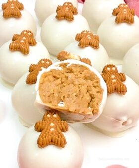 White Chocolate Gingerbread Truffles