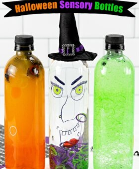 3 Halloween Sensory Bottles (Easy 5 Minute Kids Crafts)