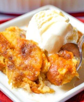 The BEST Pumpkin Bread Pudding Recipe