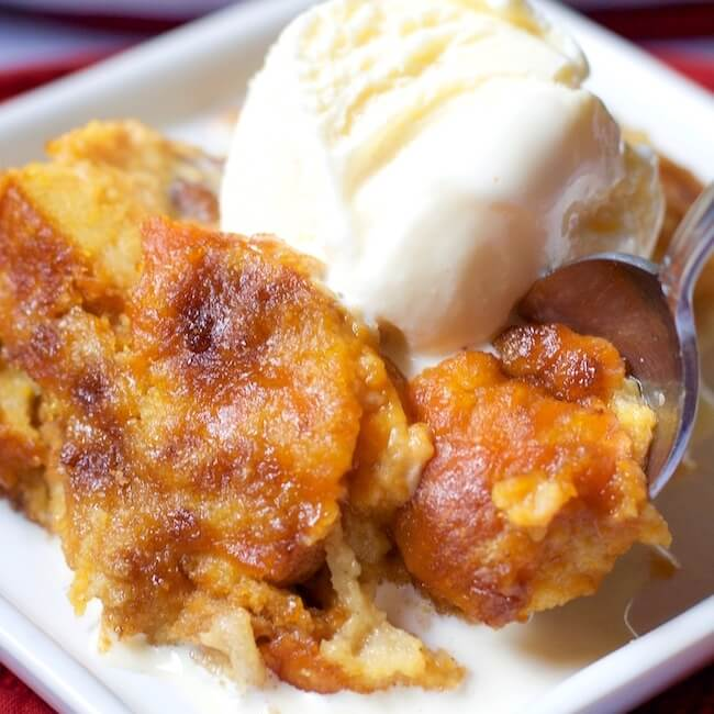 Warning:This melt-in-your-mouth pumpkin pie bread pudding recipe may just become your new favorite Thanksgiving dessert!