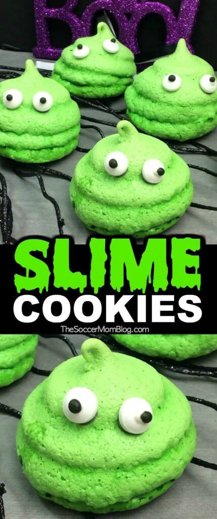 SLIME Cookies are perfect for slime themed birthday parties or Halloween! Spooky fun!!