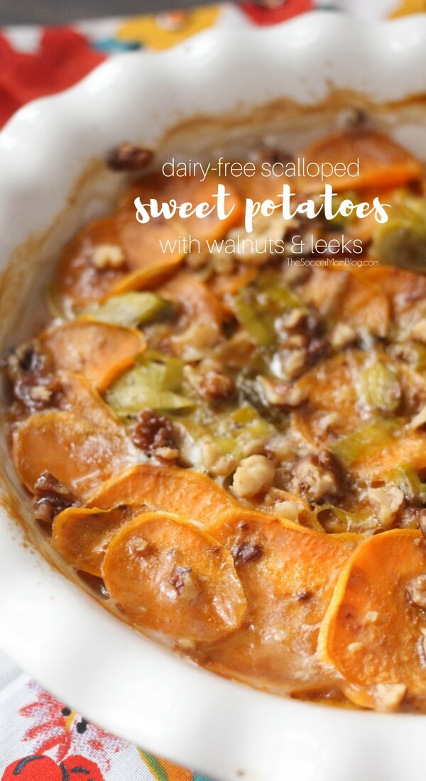 No more upset tummies! These Scalloped sweet potatoes are both dairy free and lactose free, but taste oh-so-amazing that no one will know they're healthy!