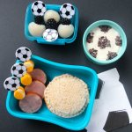 Easy & healthy kids bento lunchbox for soccer fans