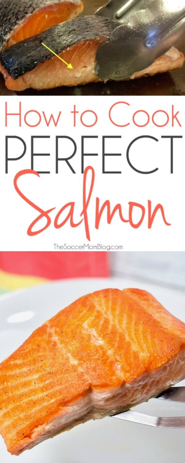 Want to know how to cook salmon like the pros do?? With this foolproof trick you can enjoy restaurant style pan-seared salmon at home...every single time! #salmon #seafood #recipe #cooking #healthyeats #healthyrecipes #protein