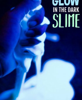 Taste-Safe Glow in the Dark Slime (3 Edible Ingredients!)
