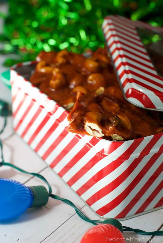 Honey brittle is a melt in your mouth homemade treat perfect for holiday gift giving!
