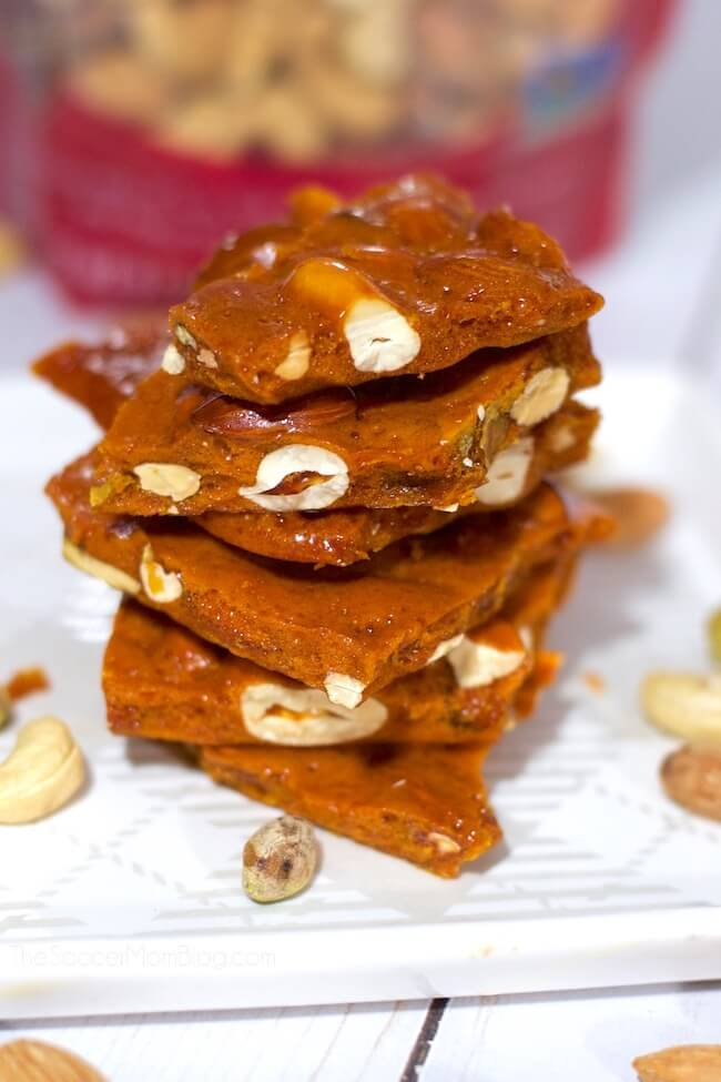 Honey Brittle holiday candy