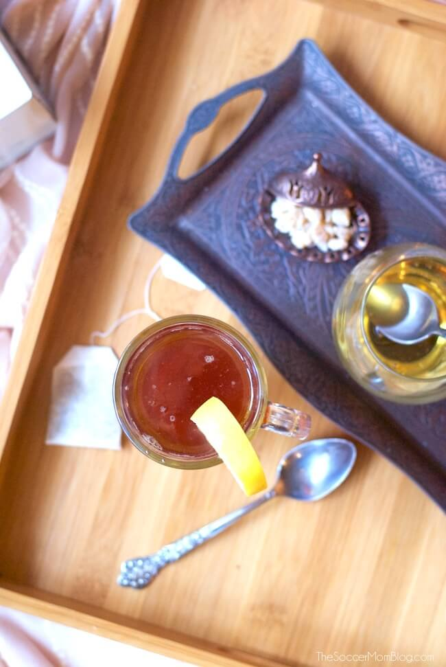 This soothing flu fighting tea is a simple, effective home remedy for easing seasonal cold and flu symptoms. Ready in minutes & tastes amazing!