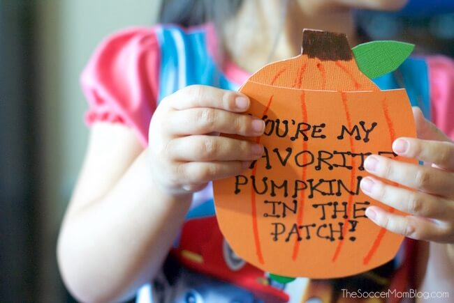 pumpkin pop-up card for kids