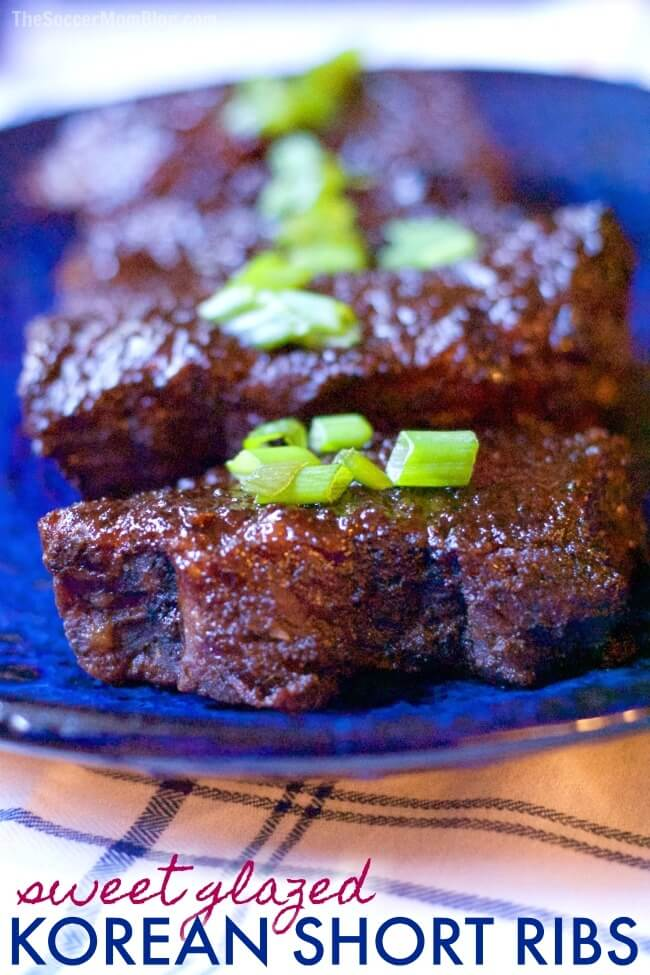 So tender you can cut them with a fork! These sweet glazedBaked Korean Short Ribs are an easy set-it-and-forget it dish that's the stuff of cravings!