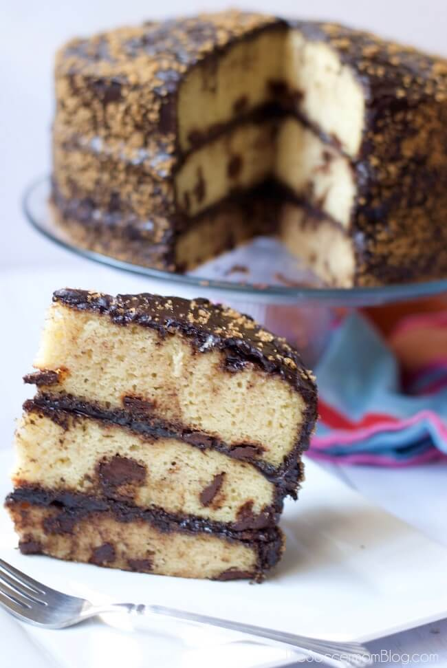 This Nestlé Toll House Cake is a wow-worthy layered dessert masterpiece inspired by the famous chocolate chip cookies. And it's gluten free!