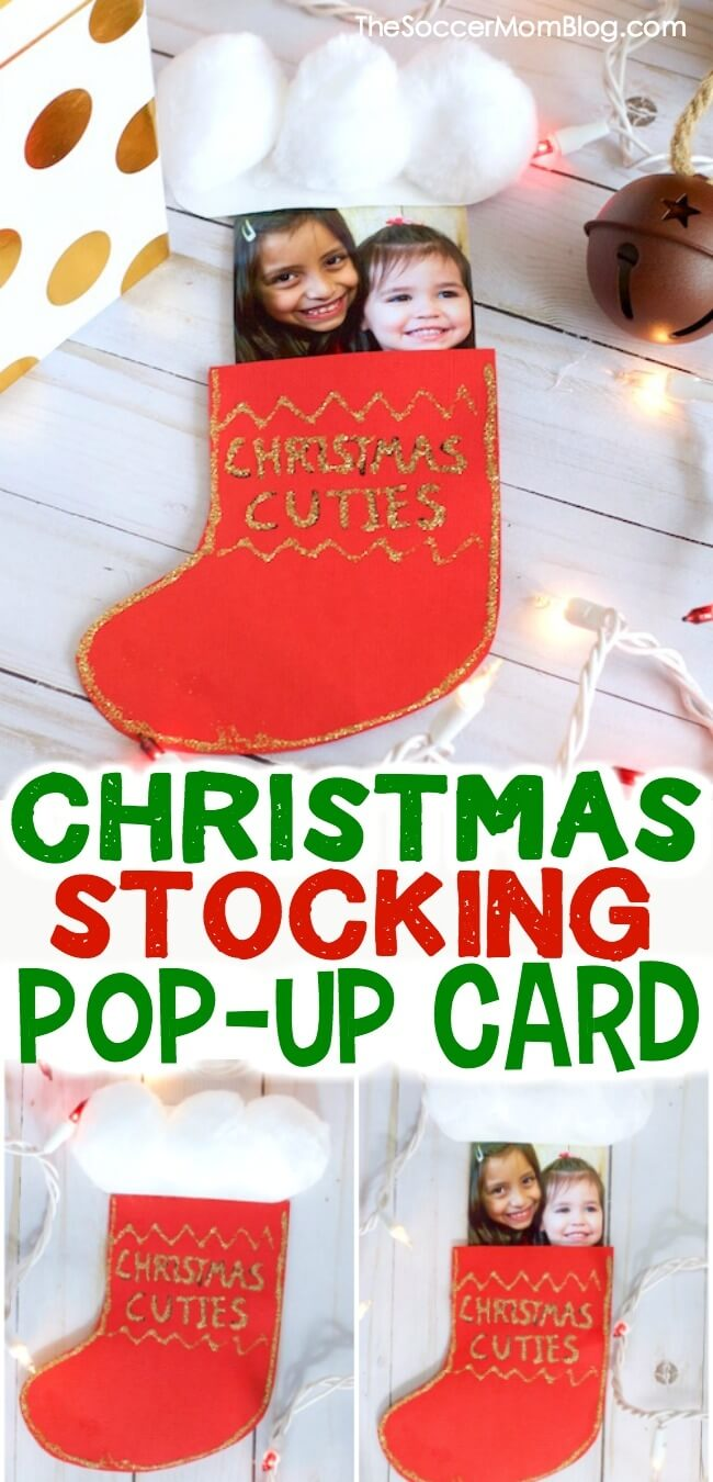 Christmas Stocking Pop-Up Card (with VIDEO) - The Soccer Mom Blog