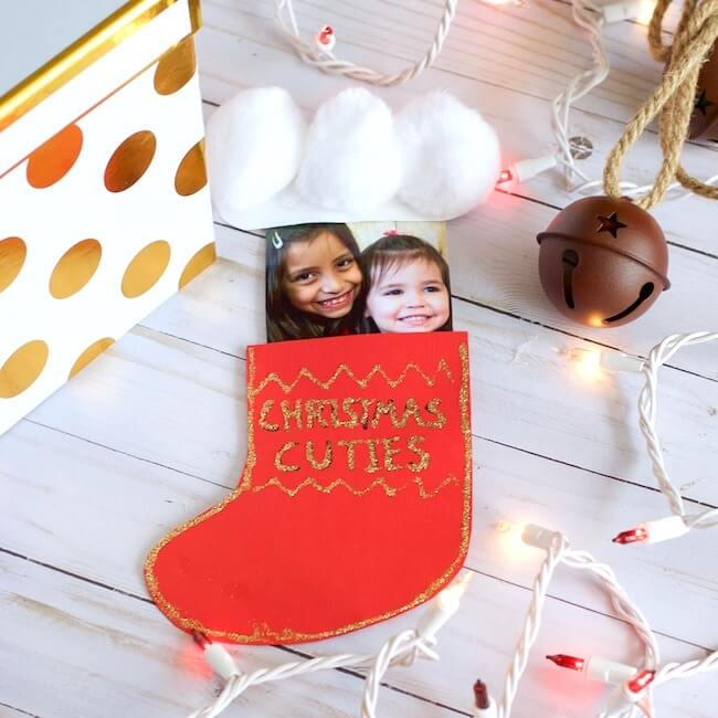 This Christmas Stocking Pop-Up Card is such a cute kid-made keepsake gift to make in the classroom or at home.
