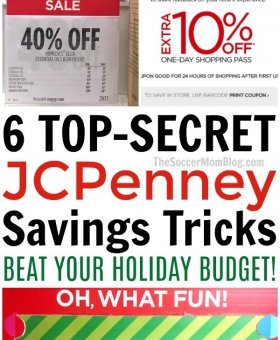 "6 ""Secret"" Ways to Save Money at JCPenney on Gifts for the Whole Family"