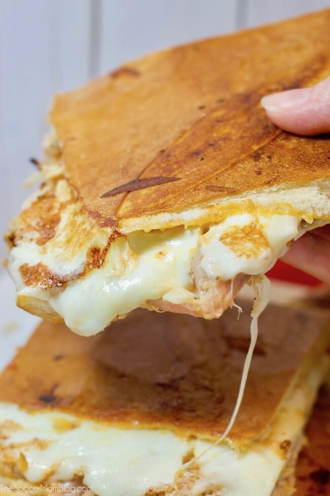 This Chipotle Chicken Melt is brilliantly simple, but it is hands-down one of the best sandwiches I've ever tasted! Sweet, smokey, cheese, and easy!