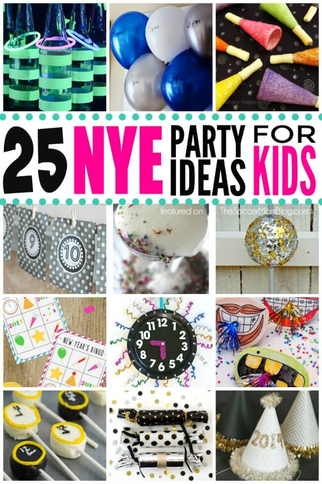 Spending NYE at home as a family? Grab this list of easy and exciting ideas and activities to rock New Year's Eve with Kids!