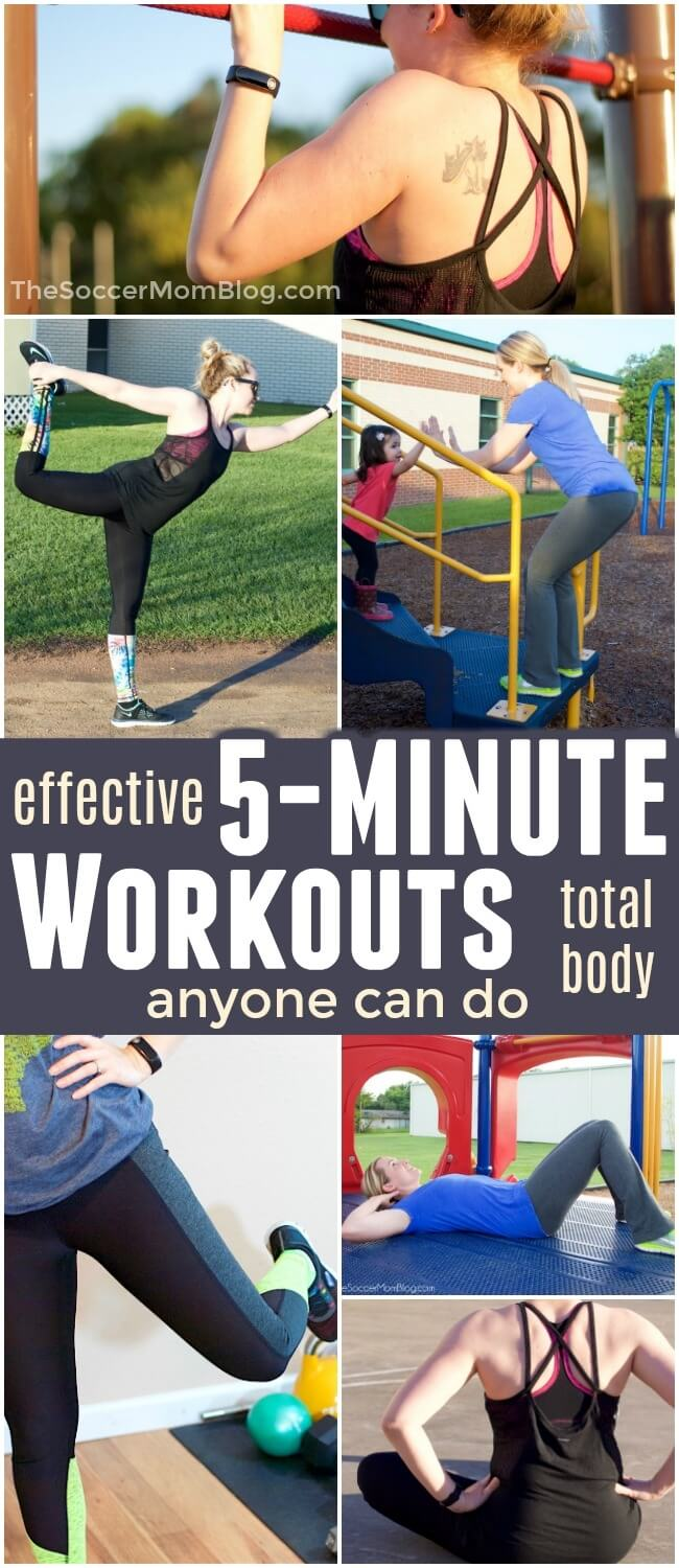 Think you're too busy to work out? Think again! These 5 minute exercises are incredibly effective and you can do them anywhere!