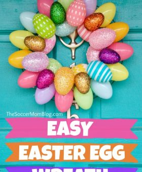 10 Minute Easter Egg Wreath – 2 Cute & Easy Designs!
