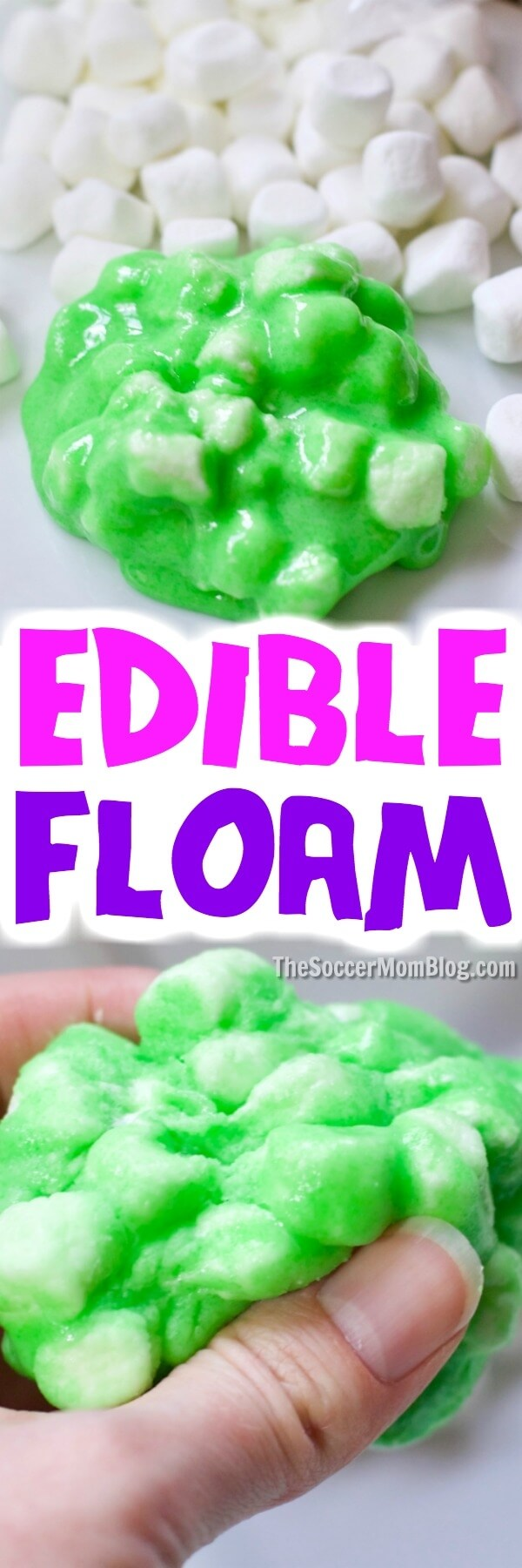 squishing DIY floam slime in hands