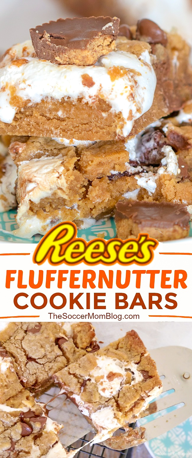 An irresistible combination of peanut butter, chocolate, and creamy marshmallow fluff — Reese's Fluffernutter Bars take the ooey-gooey dessert game to the next level!
