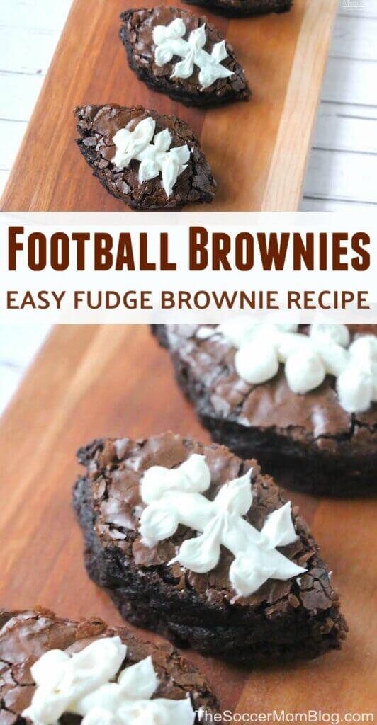 Brownies au football Fudgy faciles