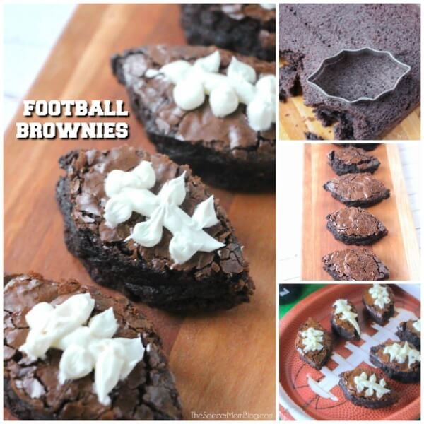 Football brownies Super Bowl Party dessert